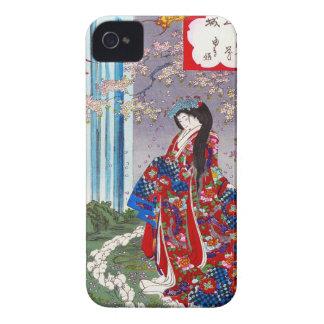 Arte clásico japonés oriental fresco de la señora carcasa para iPhone 4