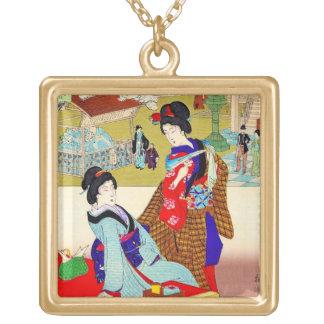 Arte clásico japonés oriental fresco de la señora  grimpolas personalizadas