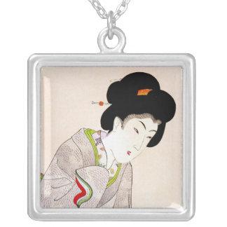 Arte clásico japonés oriental fresco de la señora  grimpola