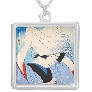 Arte clásico japonés oriental fresco de la señora grimpola personalizada