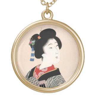 Arte clásico japonés oriental fresco de la señora  joyerias personalizadas