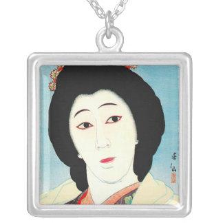 Arte clásico japonés oriental fresco de la señora  pendientes personalizados