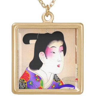 Arte clásico japonés oriental fresco de la señora  joyerías