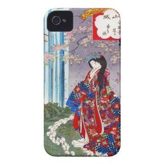 Arte clásico japonés oriental fresco de la señora funda para iPhone 4 de Case-Mate