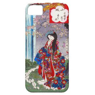 Arte clásico japonés oriental fresco de la señora funda para iPhone SE/5/5s