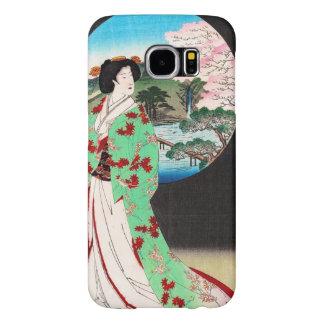 Arte clásico japonés oriental fresco de la señora funda samsung galaxy s6