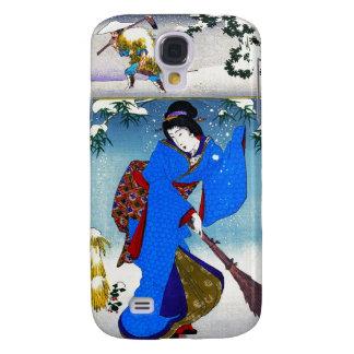 Arte clásico japonés oriental fresco de la señora  samsung galaxy s4 cover