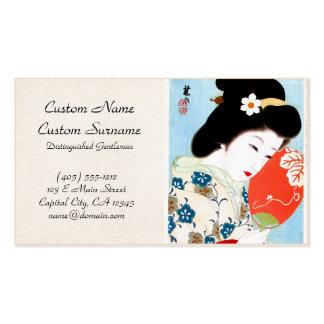 Arte clásico japonés oriental fresco de la señora  tarjeta de visita