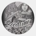 arte classic round sticker
