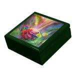 Arte color de rosa curativo Giftbox Cajas De Joyas