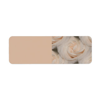 Arte color de rosa etiqueta de remite