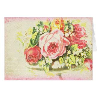 Arte color de rosa lamentable del collage tarjetas
