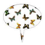 Arte coloreado de las mariposas figuras para tartas