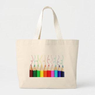 Arte coloreado del lápiz bolsa tela grande