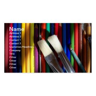 Arte coloreado del lápiz de la tarjeta de visita d