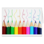 Arte coloreado del lápiz tarjetón