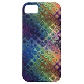 Arte coloreado del pavo real iPhone 5 Case-Mate cárcasa