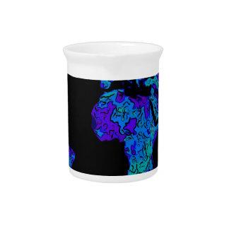 arte coloreado extracto azul de neón de los contin jarras
