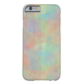 Arte coloreado pastel abstracto de la acuarela funda de iPhone 6 barely there