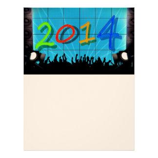 Arte colorido 2014 de la diversión del fiesta de l membrete a diseño