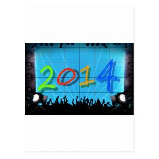 Arte colorido 2014 de la diversión del fiesta de l postales
