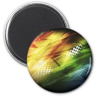 Arte colorido abstracto del fondo del vector imán redondo 5 cm