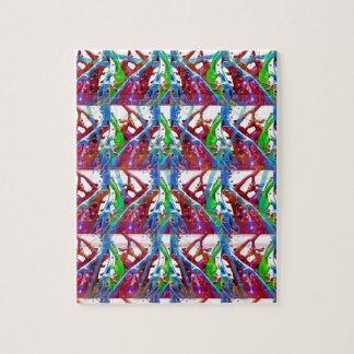 Arte colorido abstracto impresionante para los rompecabezas con fotos