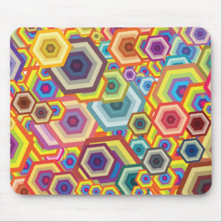 Arte colorido abstracto mouse pads