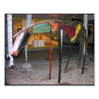 Arte colorido artístico del caballo impresion fotografica