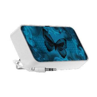 arte colorido azul del vector de la mariposa laptop altavoz