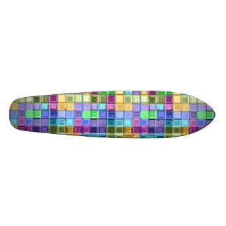 Arte colorido brillante del mosaico patín
