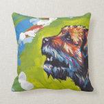 arte colorido brillante del perro del estallido almohadas