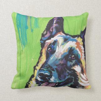 Arte colorido brillante del perro del estallido de cojín decorativo