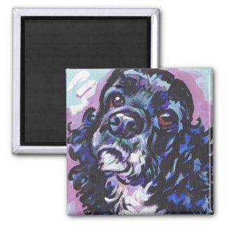 Arte colorido brillante del perro del estallido de imán cuadrado