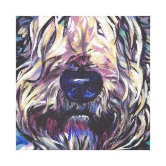 arte colorido brillante del perro del estallido de impresión en tela