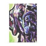 Arte colorido brillante del perro del estallido de lona estirada galerias