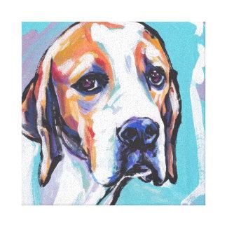 Arte colorido brillante del perro del estallido de lona envuelta para galerías