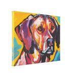Arte colorido brillante del perro del estallido de impresión de lienzo