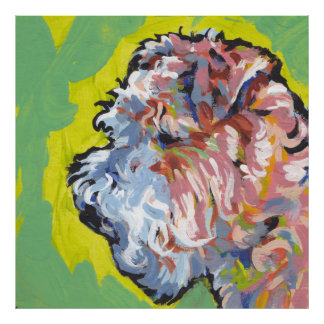 Arte colorido brillante del perro del estallido de póster