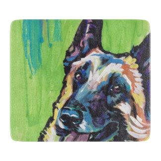 Arte colorido brillante del perro del estallido de tabla de cortar