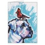 Arte colorido brillante del perro del estallido de felicitaciones