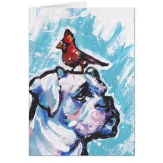 Arte colorido brillante del perro del estallido de tarjeta de felicitación