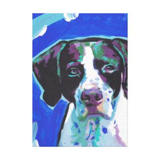 Arte colorido brillante del perro del estallido lona estirada galerías