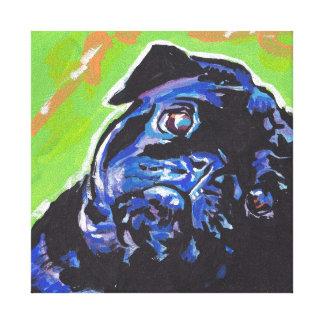 Arte colorido brillante del perro del estallido lienzo envuelto para galerias