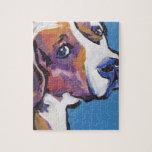 Arte colorido brillante del perro del estallido puzzles