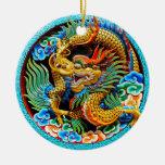 Arte colorido chino fresco de la flor de loto del  ornamentos de navidad