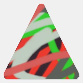 arte colorido de 2993 absract calcomania triangulo