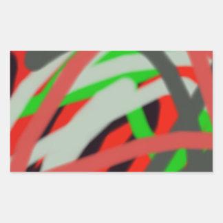 arte colorido de 2993 absract rectangular pegatinas