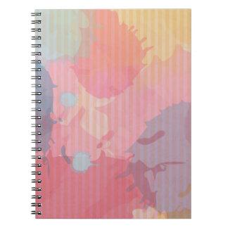 Arte colorido de Abastract de la cartulina de la Note Book