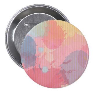 Arte colorido de Abastract de la cartulina de la Pin Redondo De 3 Pulgadas